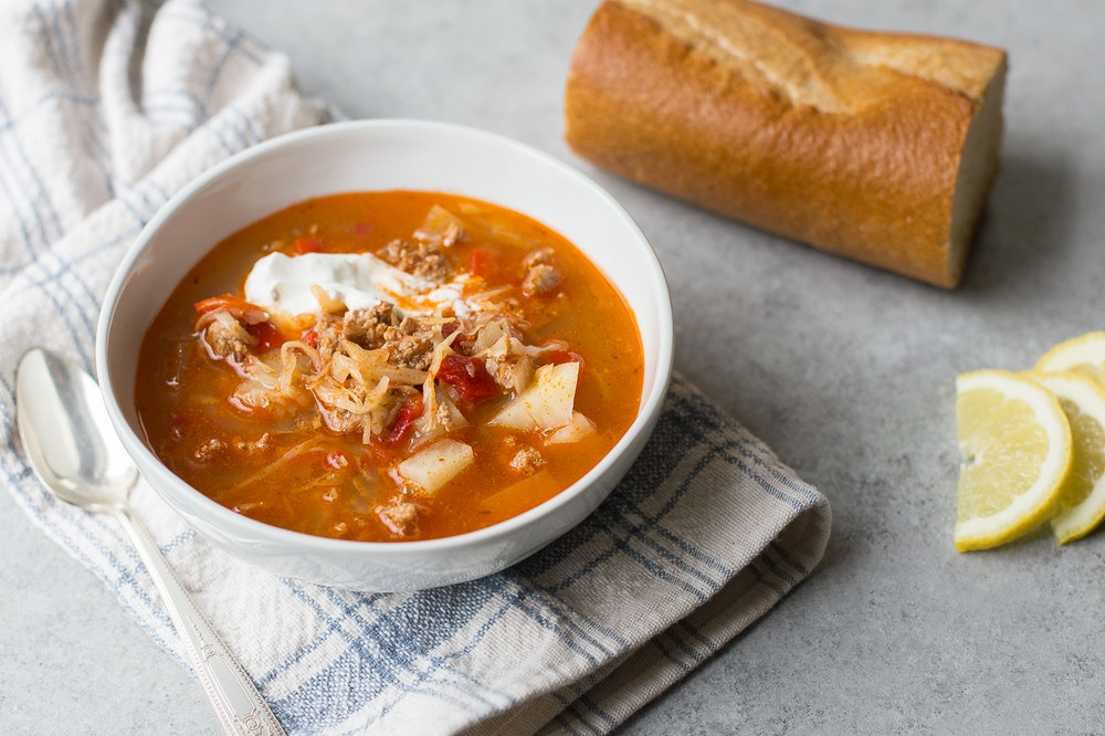 Deconstructed Stuffed Cabbage Soup