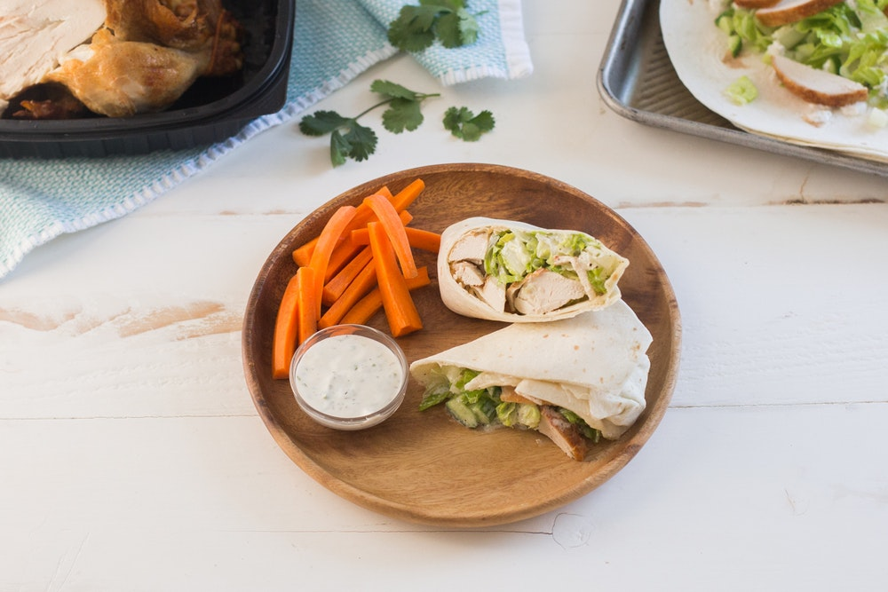 Rotisserie Chicken Ranch Wraps