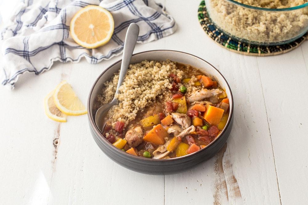 Slow Cooker Peruvian Kidney Bean Stew