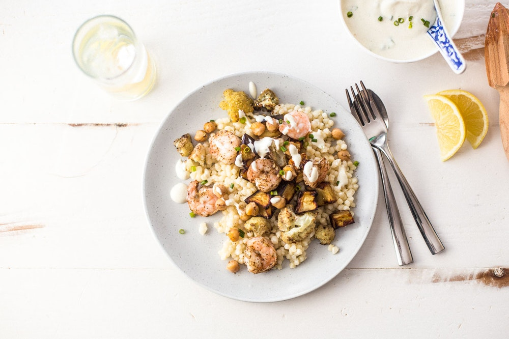 Sheet Pan Za'atar Shrimp and Vegetables