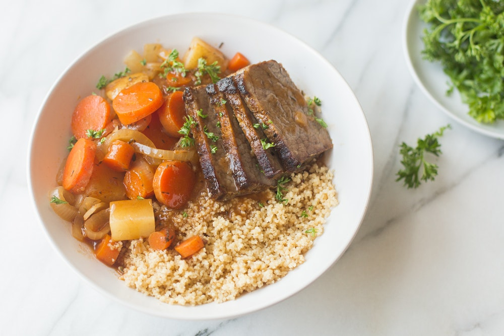 Braised Kidney Beans with Root Vegetables