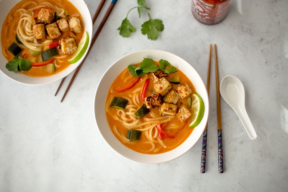 Thai Red Curry Noodle Bowls