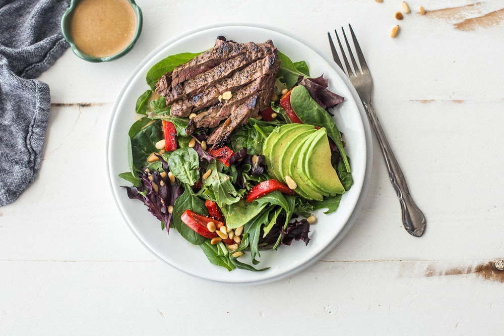 Balsamic Marinated Steak Salad