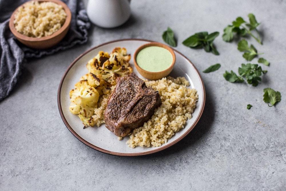 Lamb Chop with Cilantro Mint Sauce