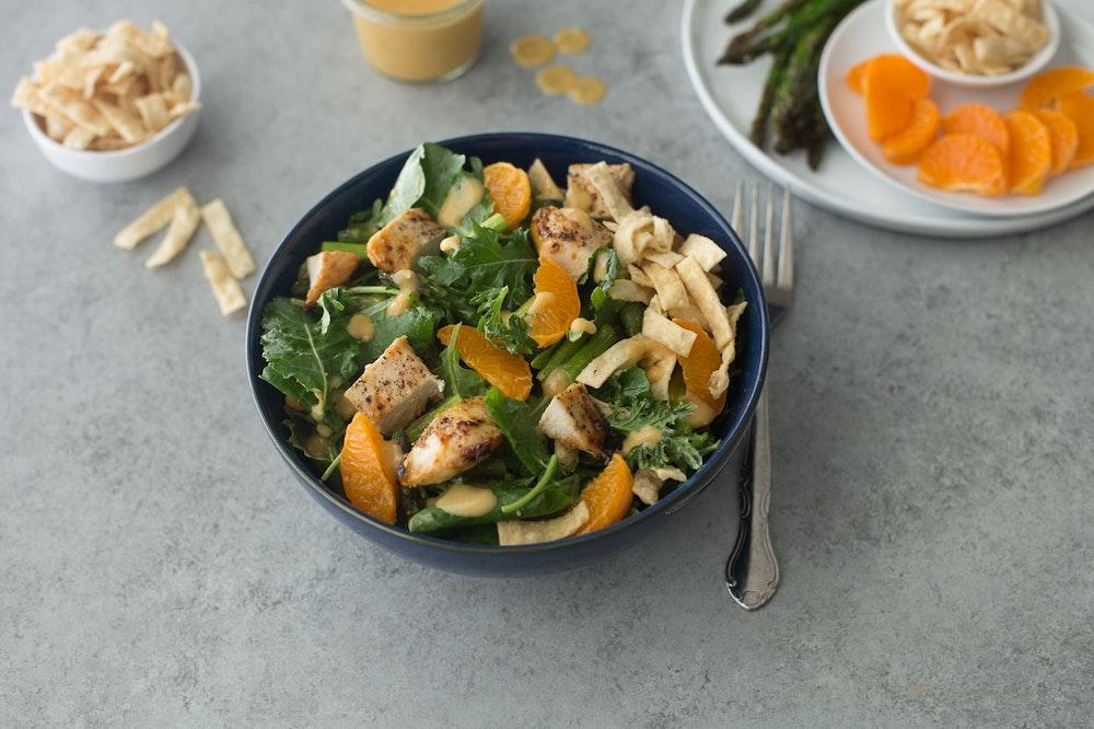 Sesame Miso Grilled Chicken Salad