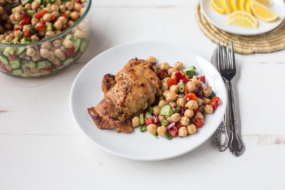 Sheet Pan Honey Harissa Chicken