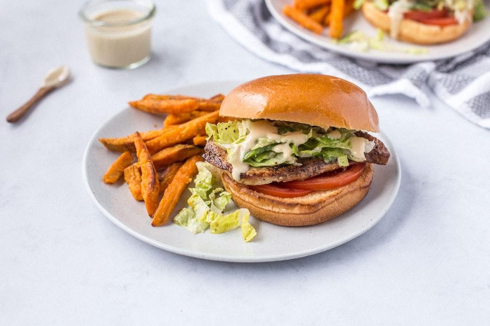 Grilled Caesar Chicken Sandwich