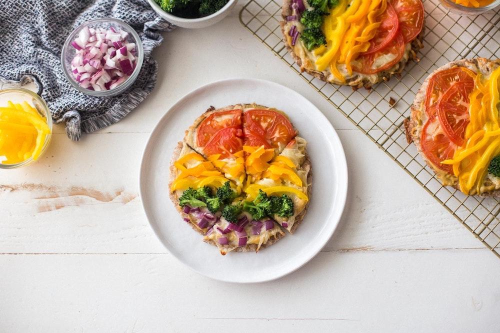 Rainbow Vegetable Flatbread