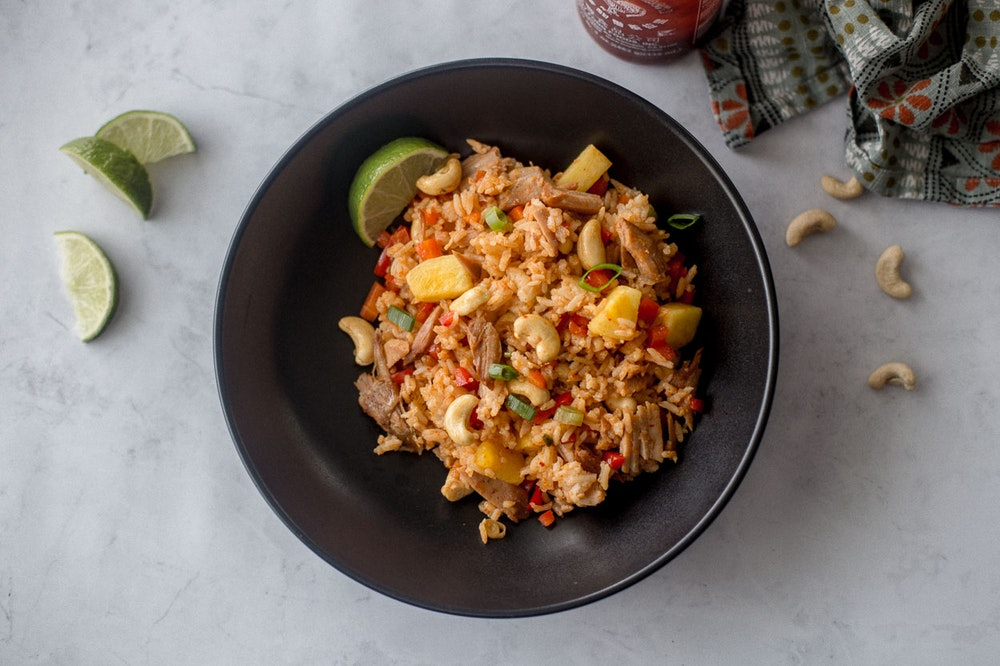[Leftover] Pulled Pork Pineapple Fried Rice