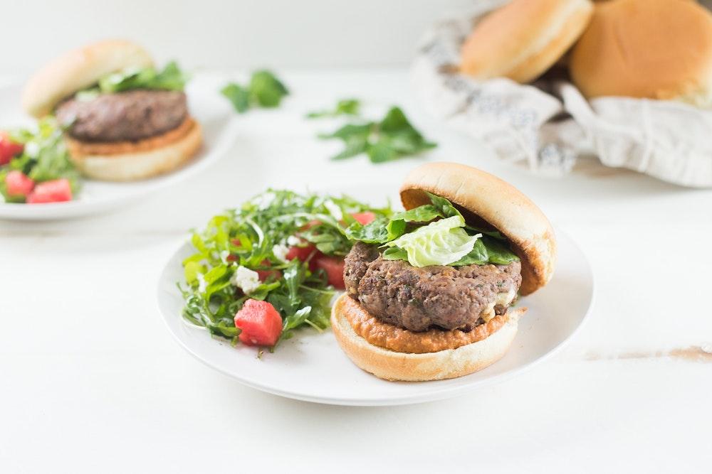 Lamb and Feta Burger