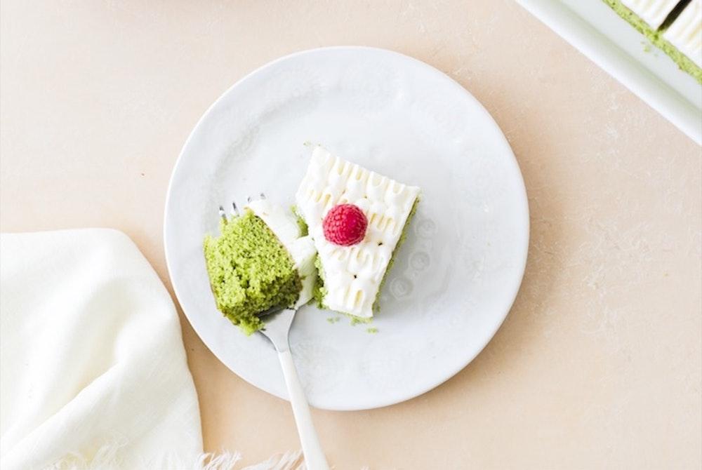 Matcha Snack Cake