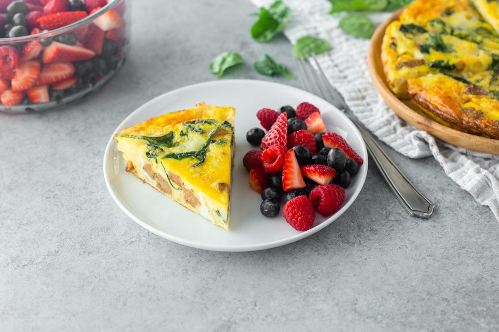Hash Brown Frittata with Sausage and Cheese