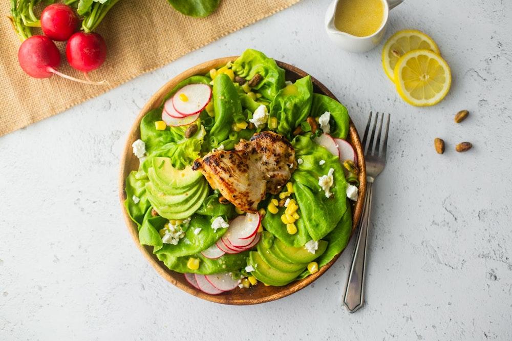 Lemon Dijon Chicken and Butter Lettuce Salad