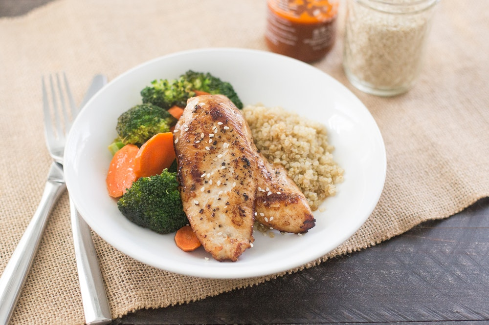 Baked Sesame Soy Chicken Breasts