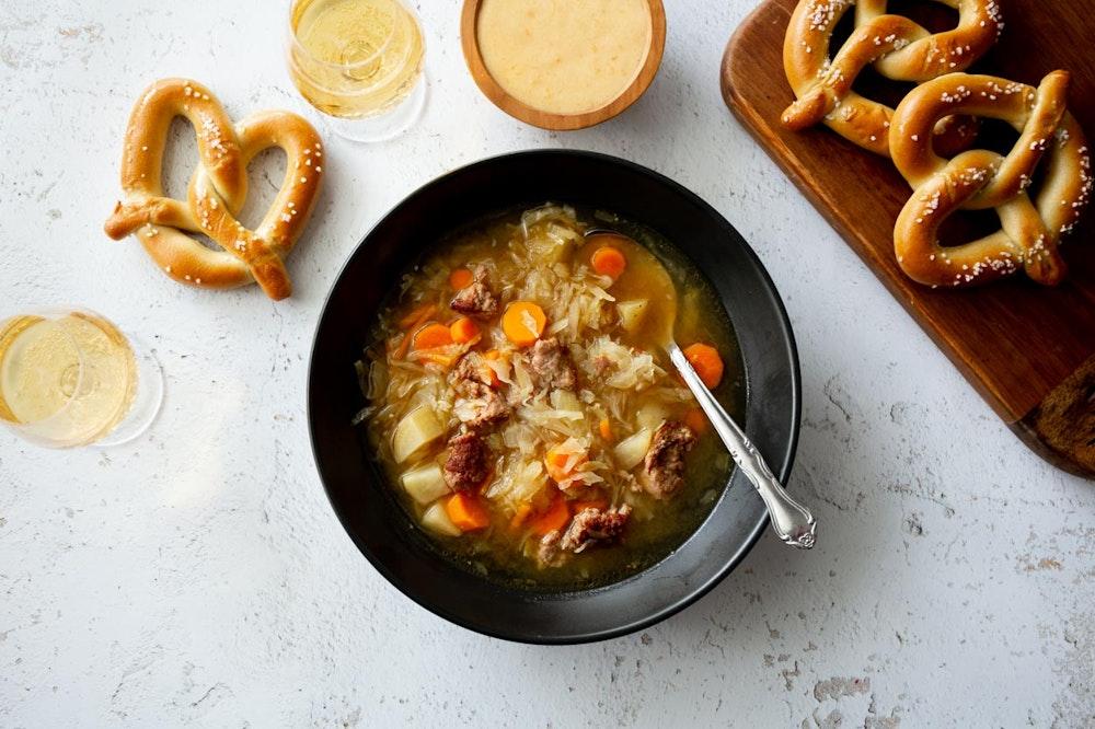 Slow Cooker (or not) Oktoberfest Soup