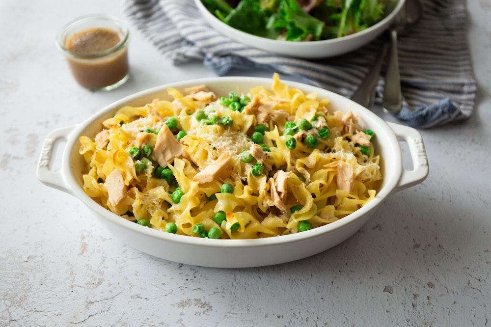Tuna Noodle Casserole with Peas