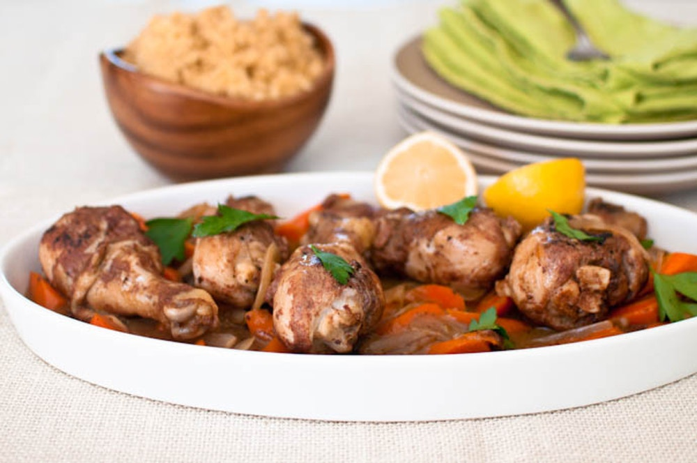 Moroccan-Spiced Chicken and Carrots