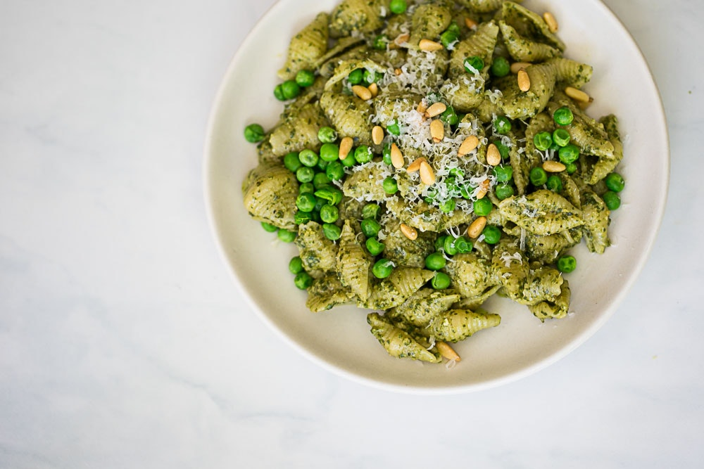 Pasta with Pesto and Spring Peas
