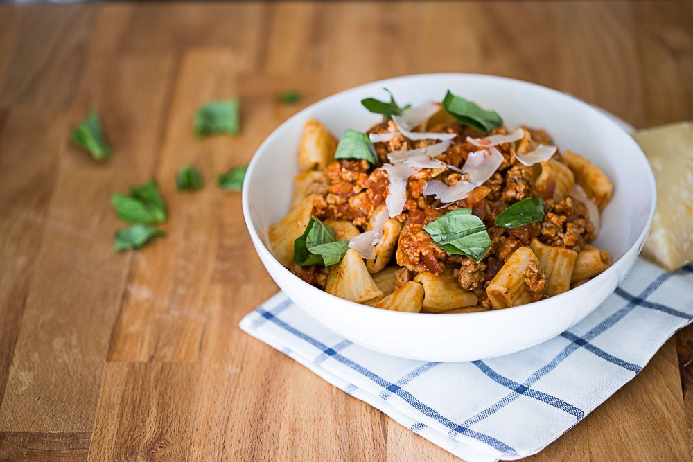 Turkey Bolognese with Pasta