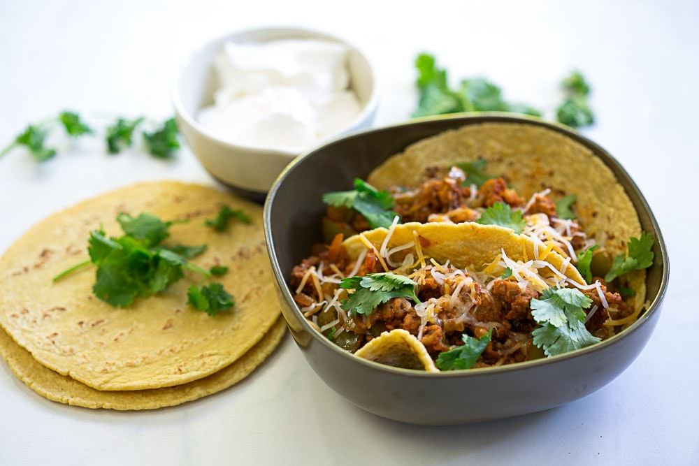 Repurposed Turkey Bolognese Tacos