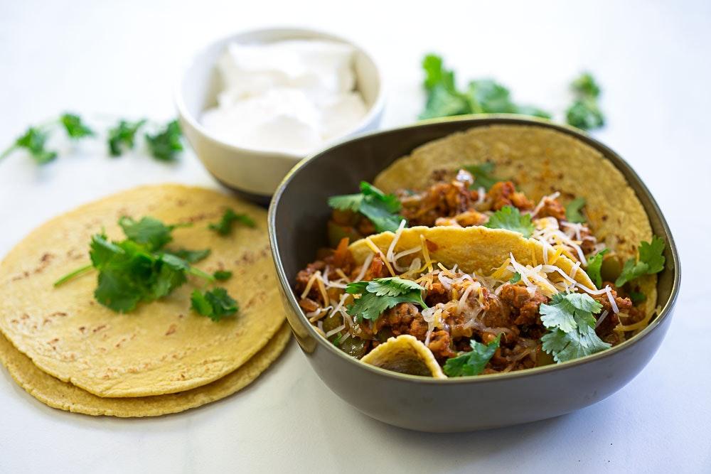 Repurposed Turkey Bolognese Tacos