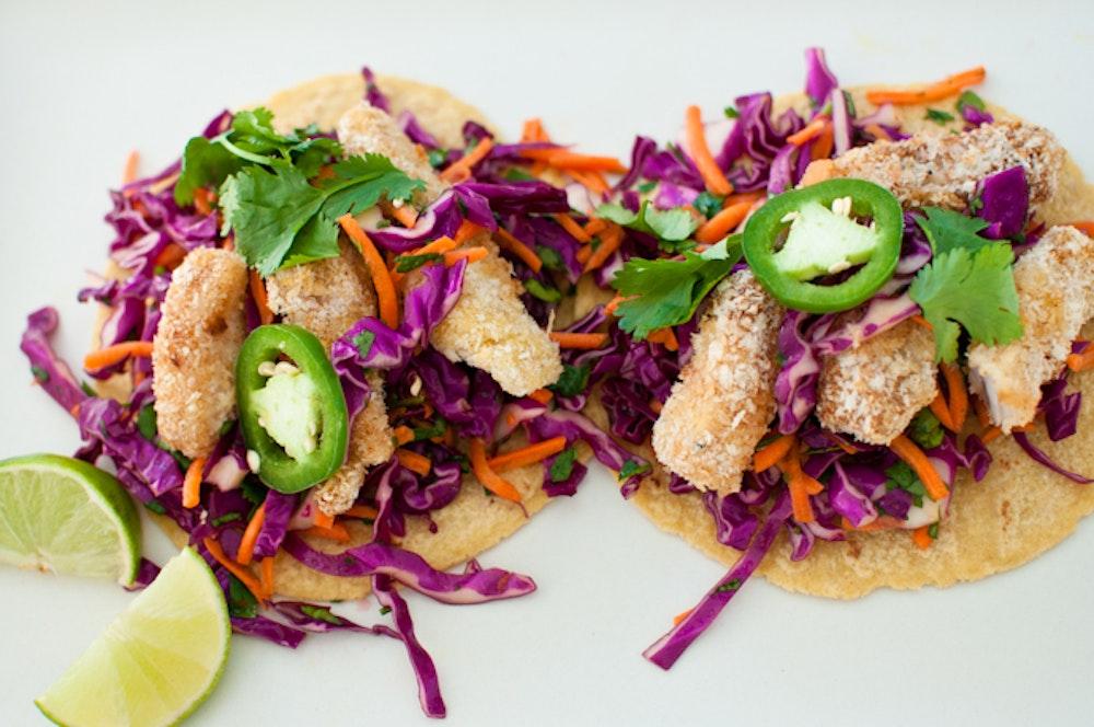 Panko-Crusted Fish Tacos