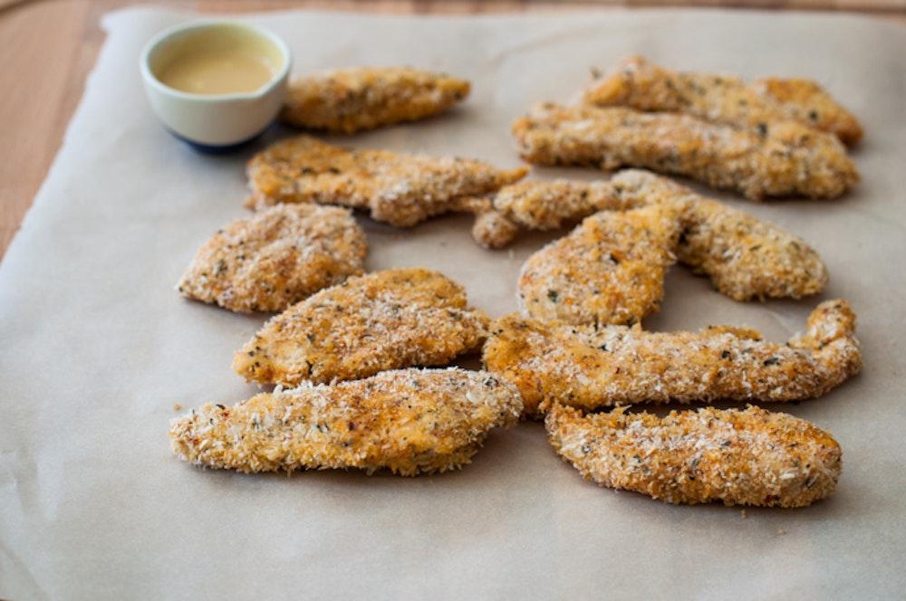 "Panko-Breaded Chicken ""Nuggets"""