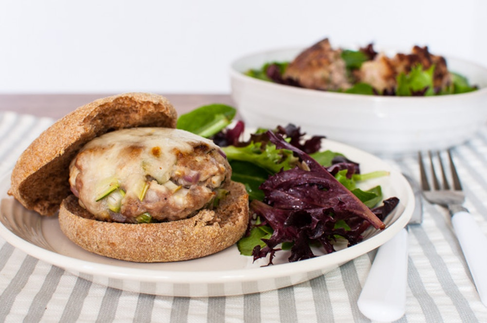 Apple-Fennel Turkey Burgers