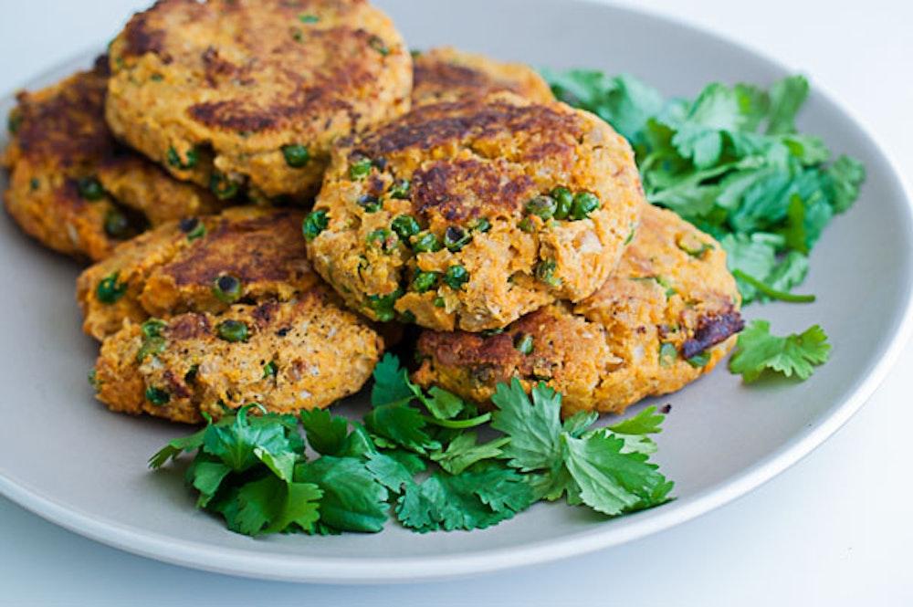 Indian-Spiced Sweet Potato Patties