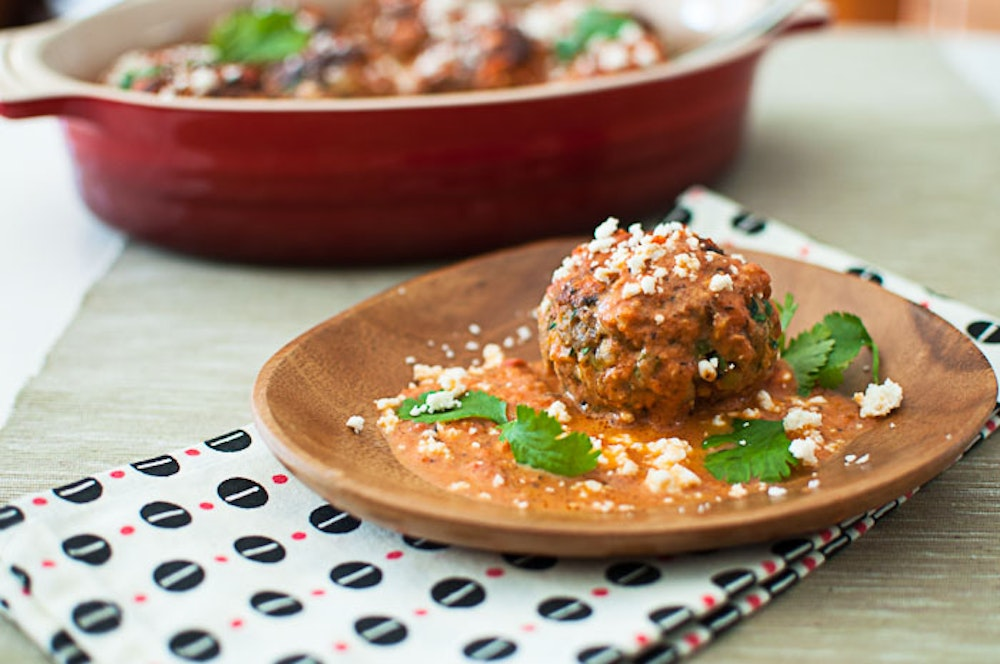 Mexican Meatballs and Fire-Roasted Tomato Sauce