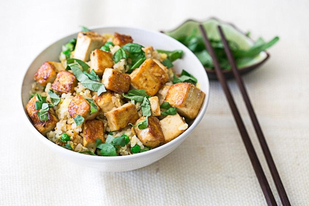 Tofu Basil Fried Rice