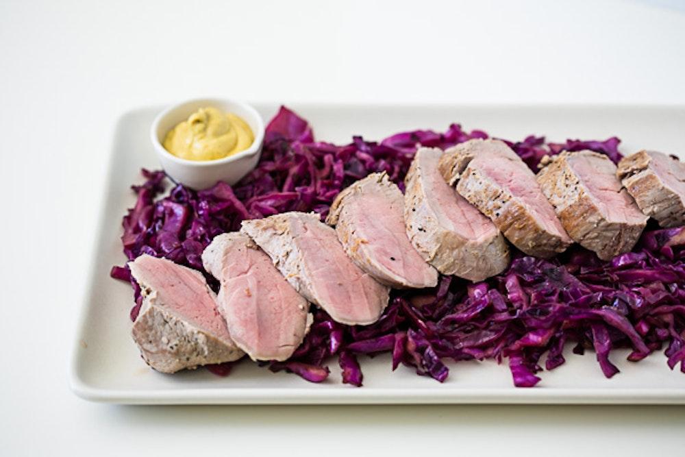 Wine Braised Pork Tenderloin