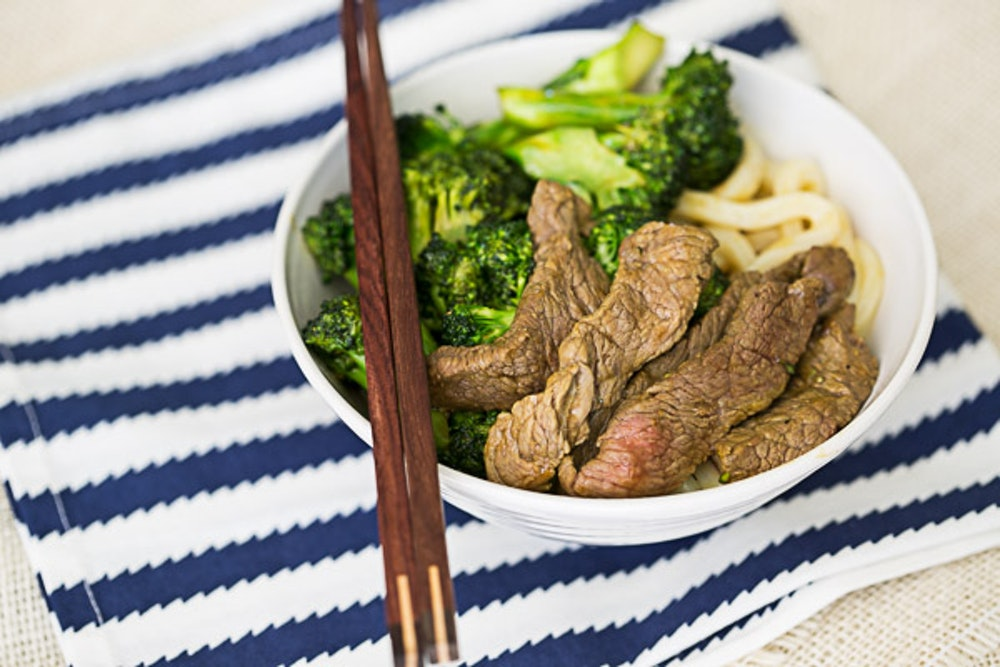 Beef and Broccoli Udon