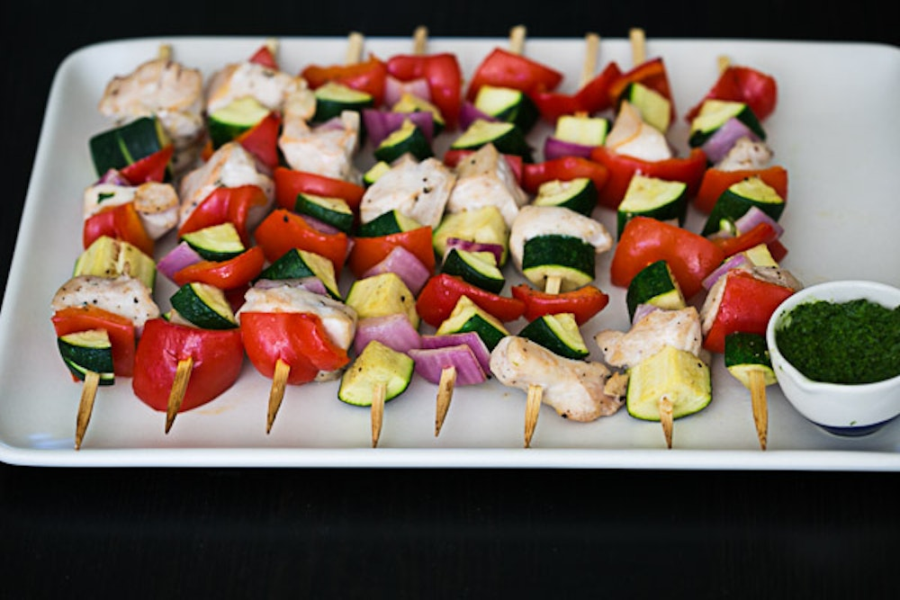 Oven Roasted Chicken Skewers