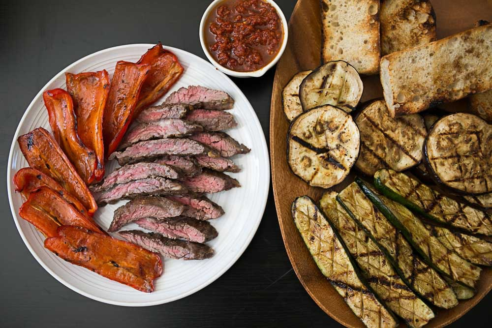 Skirt Steak and Vegetable Grill Plate