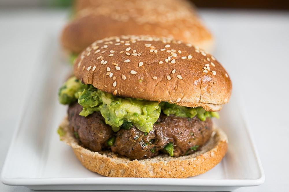 Chipotle Guacamole Burgers