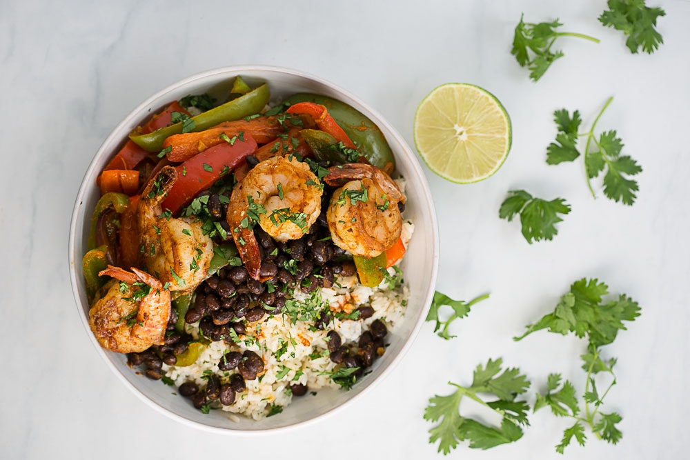 Adobo Shrimp & Black Beans