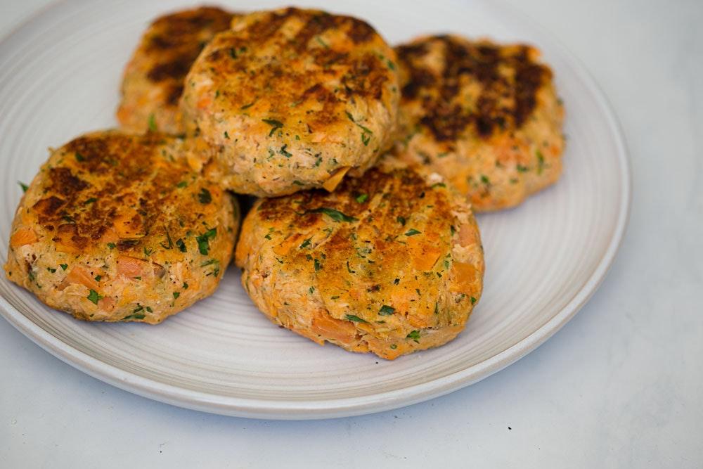 Sweet Potato & Repurposed Salmon Patties