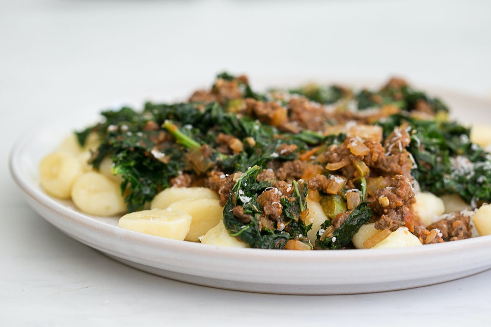 """Gnocchi with Kale and """"Sausage"""""""