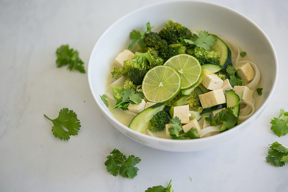 Tofu and Green Curry Noodles