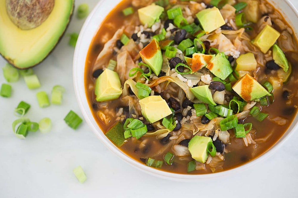 Black Bean and Leftover Rice Soup
