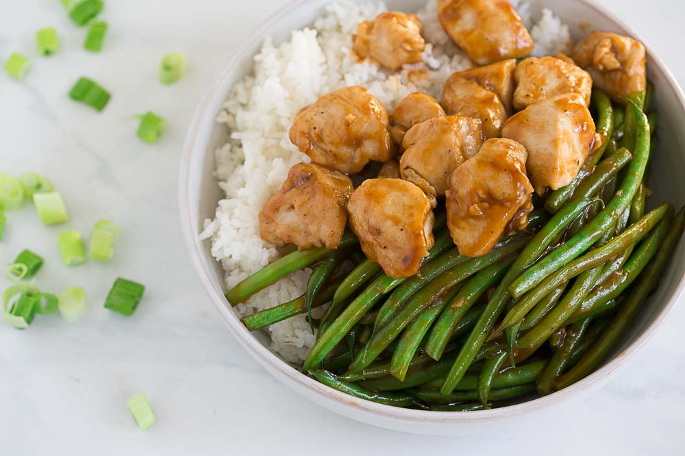 Sweet Chicken and Green Bean Stir-Fry