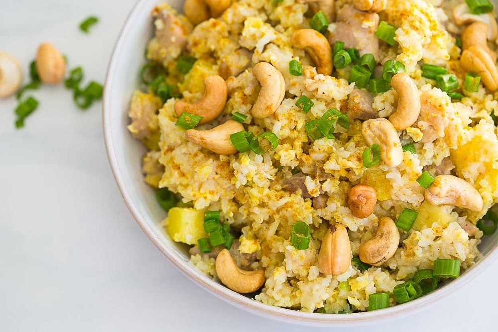 Pineapple and Cashew Curried Fried Rice