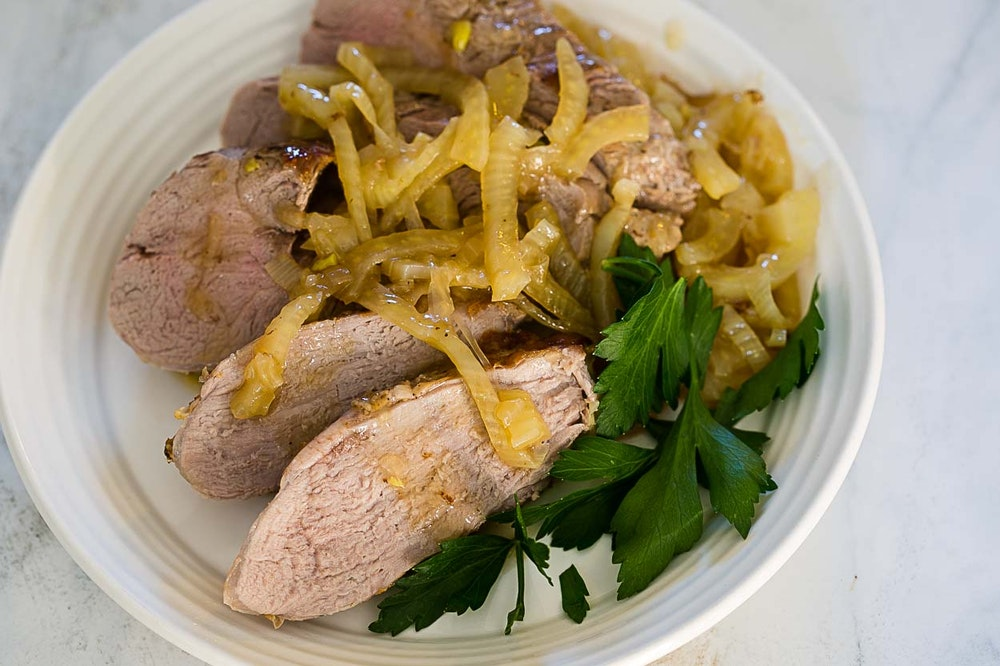 Fennel Pork Tenderloin in Gravy