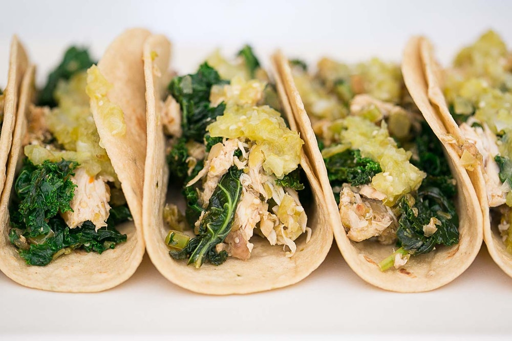 Rotisserie Chicken and Kale Tacos