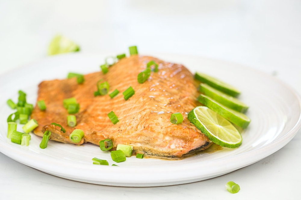 Baked Salmon with Curry Sauce