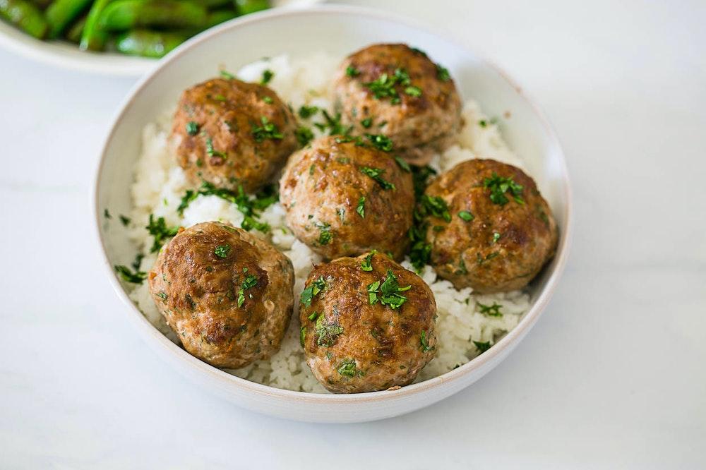 Miso Soy Ginger Meatballs