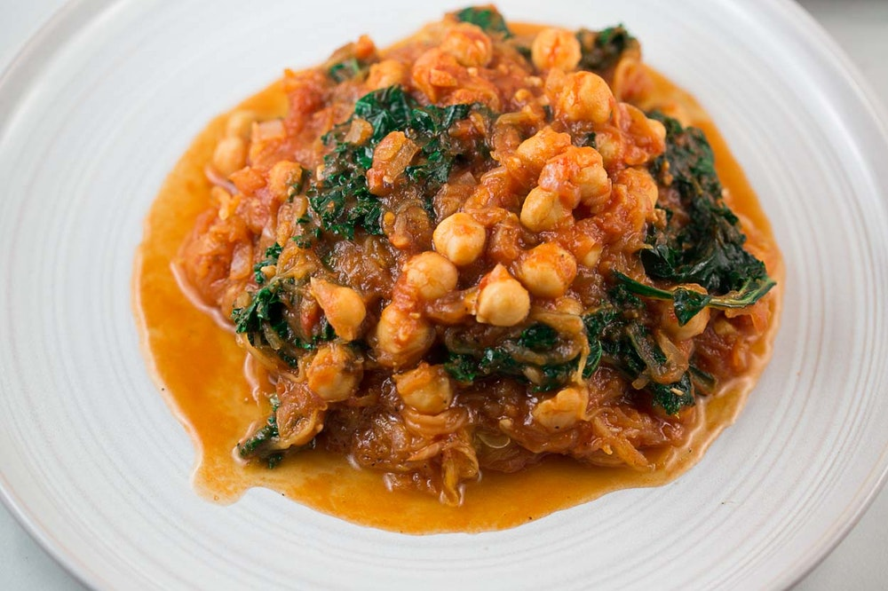 Chickpea and Kale Tomato Sauce