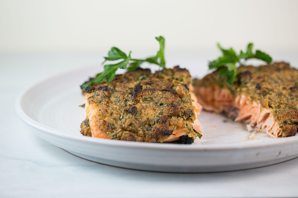 Maple-Dijon Panko Crusted Salmon