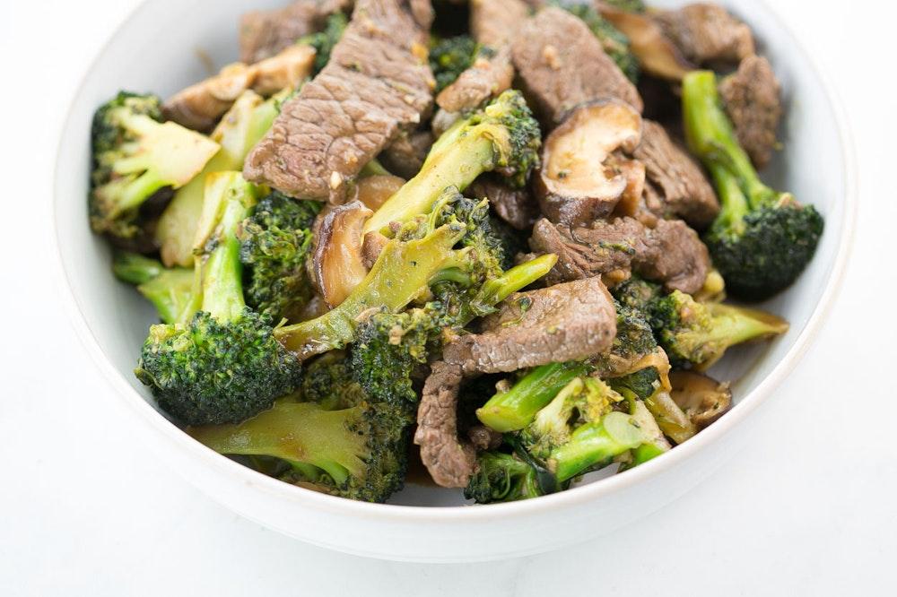Beef, Mushroom, and Broccoli Stir-Fry
